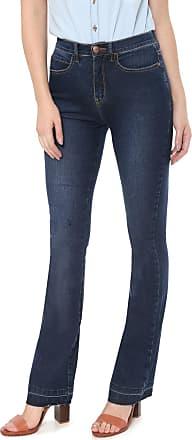 67ce834f1 Cantão Calça Jeans Cantão Bootcut Pespontos Azul-marinho