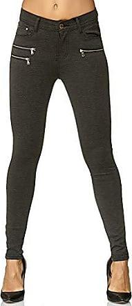 Damen High Waist Röhrenhose Leggings Jeggings Stretch Hose Jegging Stoffhose 2XL