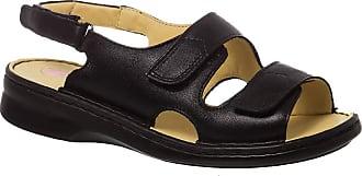 Doctor Shoes Antistaffa Sandália Feminina em Couro Preta 295M Doctor Shoes-Preto-34