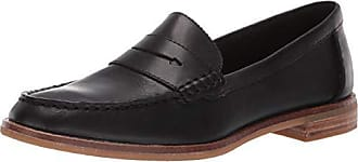 Sperry Top-Sider Womens Seaport Penny Nubuck Loafer, Black, 100 M US