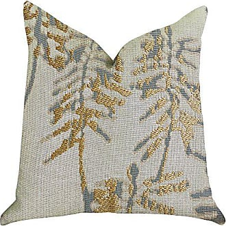 Plutus Brands Creekside Beauty Double Sided Luxury Throw Pillow 22 x 22 Green/Gold