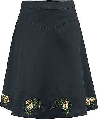 Banned Retro Serpent Flare Skirt Medium-Length Skirt Black L