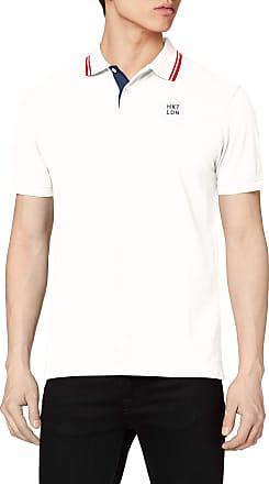 Hackett Mens Hkt Contrast Clr Polo Shirt, White (White 800), X-Large