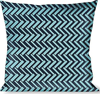 Buckle Down Pillow Decorative Throw Jagged Chevron Navy Turquoise