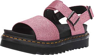 Dr. Martens Womens Voss Sling Back Sandals, Pink (Pink Fine Glitter Pu 650), 4 UK (37 EU)