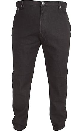 Duke London Mens Kingsize Balfour Comfort Fit Stretch Jeans (44S) (Black)