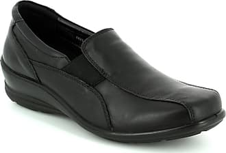 faef0c07bff Padders SKYE Ladies Leather Wide Extra Wide Loafer Shoes Black UK 5.5