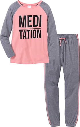 Bonprix Dam Pyjamas i rosa lång ärm - bpc collection cfaa70700c4c6