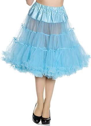 Hell Bunny Petticoat SWING LONG turquoise 25 Length XS-M