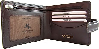 Visconti New Mens Visconti Tuscany anti fraud RFID security leather wallet Style Massa TSC-41 (Brown)(Size: 11 x 10cm)