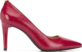 Michael Michael Kors textured point-toe pumps - Vermelho