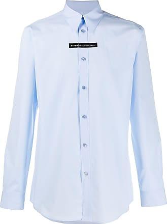 Givenchy Camisa com listra e logo - Azul