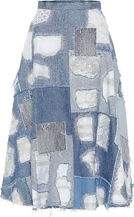 Junya Watanabe Patchwork denim skirt