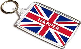 ILoveGifts KEYRING - Harper - Union Jack Flag - Surname Gift