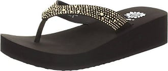 Yellow Box Womens Africa Wedge Flip Flop, Brown, 8 M US