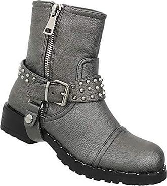 7aa1f946d0d6d0 Schuhcity24 Damen Schuhe Stiefeletten Bequeme Übergangsstiefel Kurze Boots  Blockabsatz Booties Grau Silber 39
