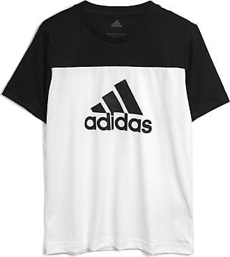 adidas Performance Camiseta adidas Performance Menino Frontal Preta/Branca