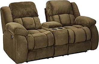 Coaster Fine Furniture Weissman Pillow Padded Reclining Loveseat with Cupholders and Storage Chocolate