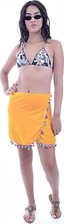 Bali Beach Mini Saia Envelope Com Pompom Colorido