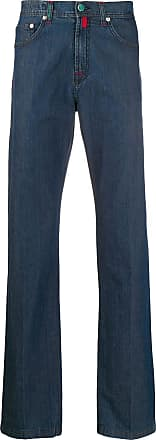 Kiton mid rise straight-fit jeans - Blue