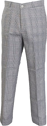 Relco NEW Relco Mod Sta Press Trousers Prince Wales Check 36