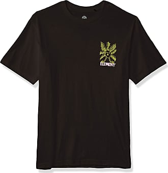 Element Mens SIX Eyes Sheep Short Sleeve TEE T-Shirt, Flint Black, Large