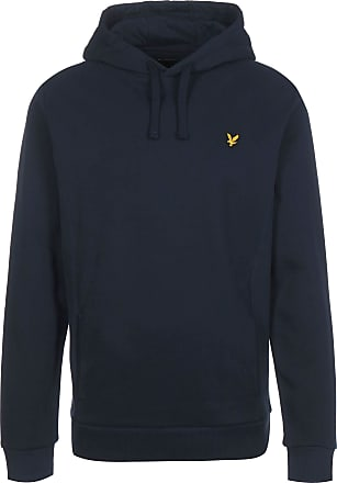 Lyle & Scott Lyle and Scott Mens Panelled Hoodie - Cotton - S Dark Blue