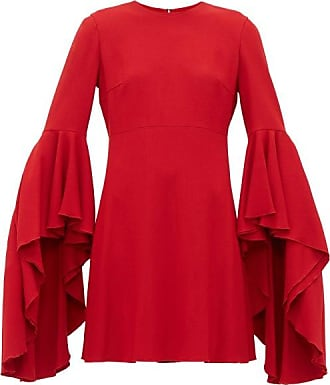 Giambattista Valli Fluted-cuff Crepe Dress - Womens - Red