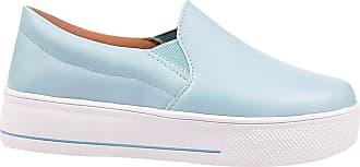 Eleganteria Tenis Iate Feminino Sapatenis Azul Casual Eleganteria Tamanho:36;Cor:Azul Claro