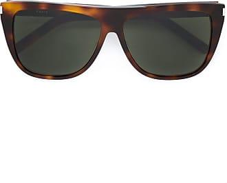 Saint Laurent Eyewear Óculos de sol quadrado - Marrom