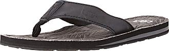 Urban Beach Mens Colorado Leather Flip Flops, Grey (Grey), 11 UK 44 EU