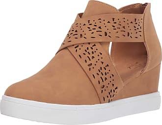 Yoki Womens DEMIAN-17 Sneaker, Cognac, 4.5 UK
