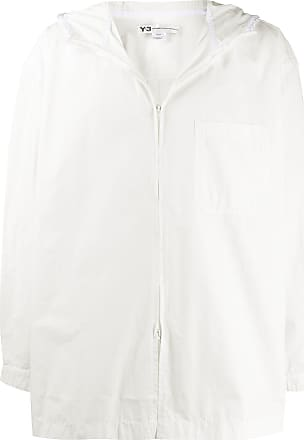 Yohji Yamamoto hooded heavy poplin jacket - Branco