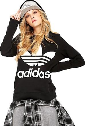 6792e82140458 adidas Originals Moletom Fechado adidas Originals Trefoil Hoodie Preto