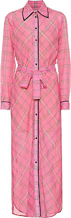 Victoria Beckham Checked cotton and silk shirt dress