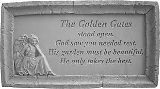 Kay Berry The Golden Gates Stood Open Framed Memorial Stone - 49601