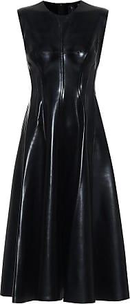 Norma Kamali Grace faux-leather midi dress