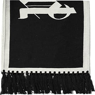 Palm Angels Wool Scarf With Logo Mens Black