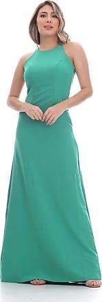 Clara Arruda Vestido Clara Arruda Longo Costa Renda 50258 - M - Verde