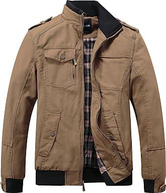Wantdo Mens Cotton Smart Jacket Khaki Small
