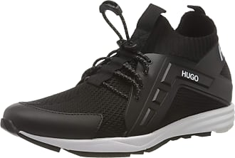 HUGO BOSS Mens Hybrid_Runn_kncg Sneaker, Black, 10.5 UK