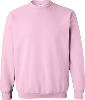 Gildan Mens Heavy Blend Crewneck Sweatshirt Light Pink