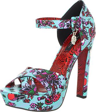 Iron Fist Chaussures Ne Retenez pas votre souffle Peep Toe Bleu Noir Plat Chaussures