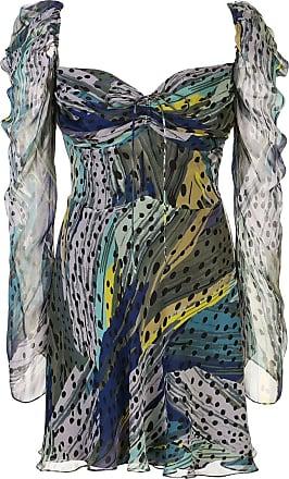 Diane Von Fürstenberg Vestido mini Josephina de chiffon - Azul