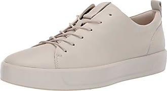 Ecco Mens Soft 8 Tie Fashion Sneaker, Gravel, 11-11.5 M US