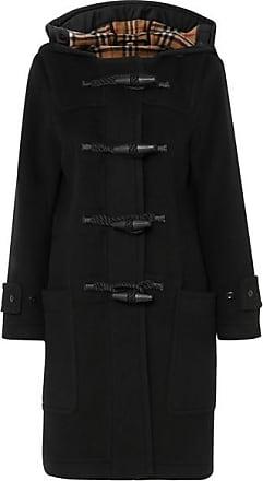 Burberry Duffle-coat À Capuche En Laine Mélangée - Noir b96df626d06
