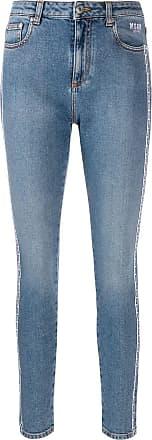 Msgm logo skinny jeans - Blue