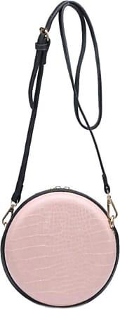 Girly HandBags Girly HandBags Womens Round Croc Shoulder Bag - Light Pink