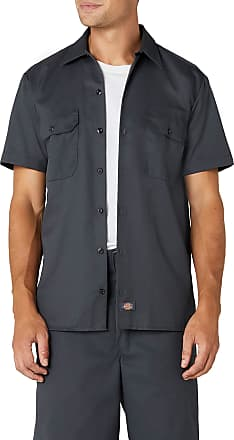 Dickies Mens Work Shirt Short Sleeved Workwear, Grey (Charcoal Grey), XXX-Large