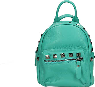 Chicca Borse Aren - Womans Backpack Bag in Genuine Leather Made in Italy - 17x20x11 Cm
